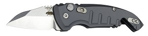 "A01-Microswitch 1.95"" Folder Wharncliffe Blade Tumble Finish Alum Frame - Matte Grey"