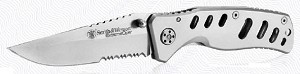 S&W Extr Ops /Serrated Clip Point Blade/ Handle w/ Pocket Clip