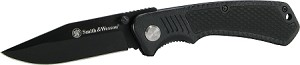 Smith & Wesson Black Clip Point Blade and Black Aluminum insertable handle w/ pocket clip
