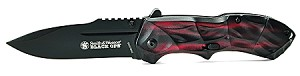 Smith & Wesson Black Ops 3 w/ Red handle Drop Point blade