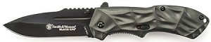 SMITH&WESSON 3RD GENERATION OPS.MAGIC ASSIST LINER LOCK FOLDER W/BLACK DROP POINT BLAD