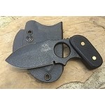 Spear Point, Black Textured handle, Black Kydex Sheath